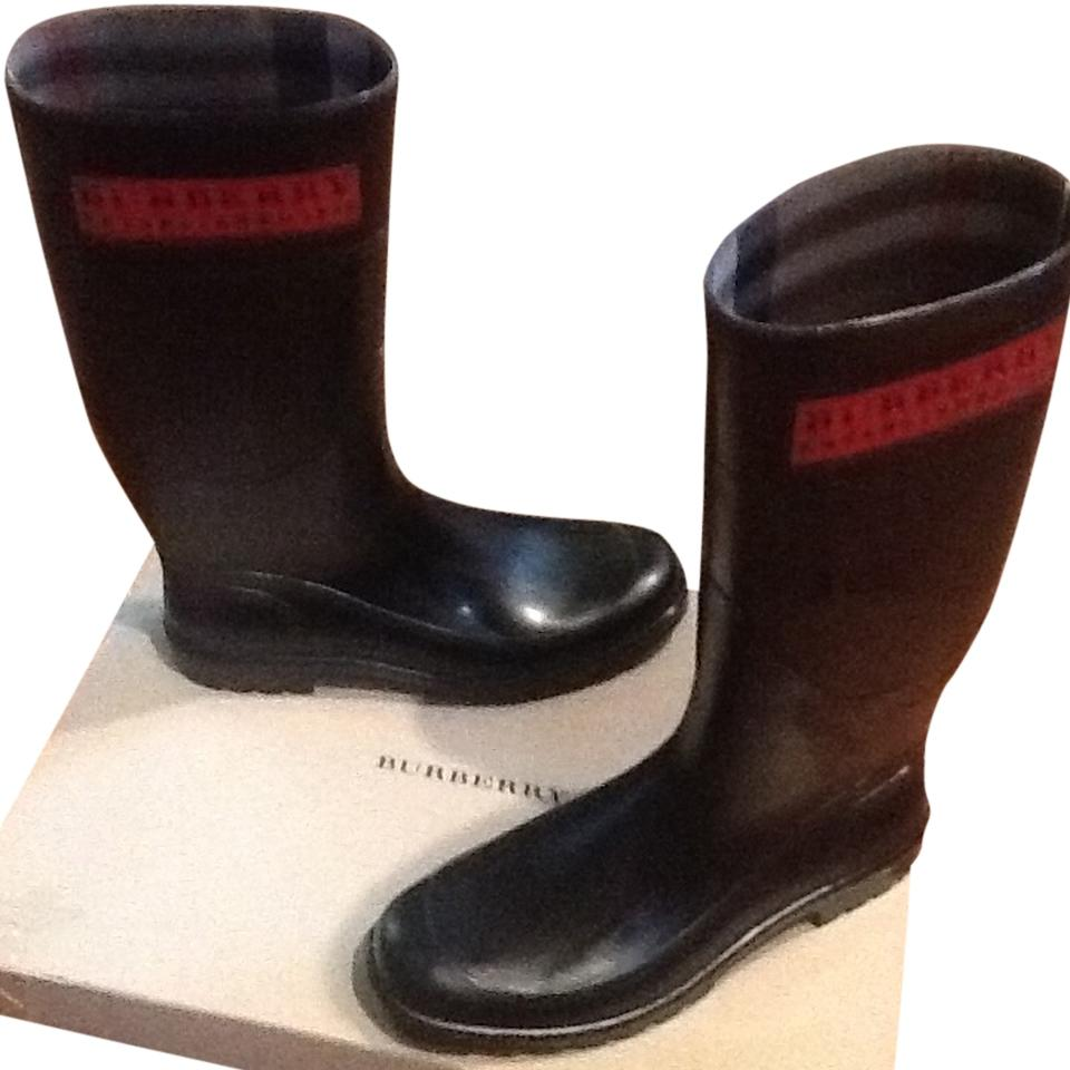 Burberry Black Red Logo Plate Nameplate Boots/Booties Boots/Booties Boots/Booties f9b1dc