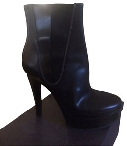 Jil Sander BLACK WITH WHITE TOPSTITCHING Boots