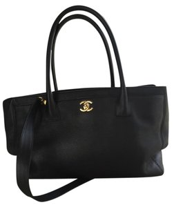 Chanel Executive Cerf Tote in Black