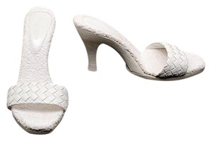 Bottega Veneta Woven Terry Cloth White Pumps