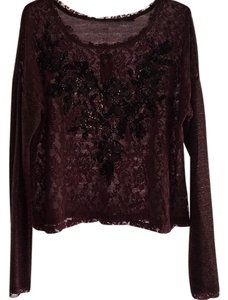 Miss Me Top Burgundy
