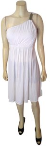 Carmen Marc Valvo short dress white Size Small New on Tradesy