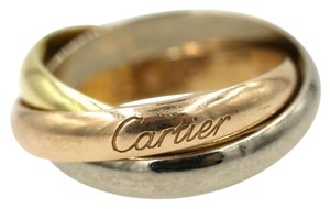Cartier Cartier Tri-Color 18 Karat Gold Rolling Ring Size 53 (5.5)