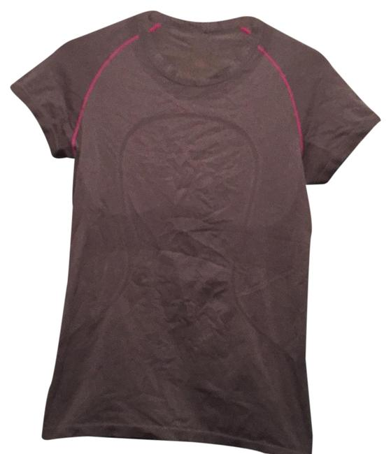 Item - Grey with Hot Pink Vent Tech Activewear Top Size 10 (M, 31)