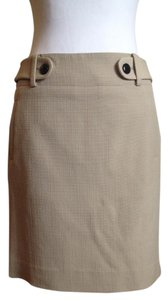 Banana Republic Pencil High-waisted Mini Skirt Sand beige