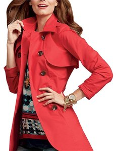 CAbi Chic Tie Comfortable Summer Trench Coat