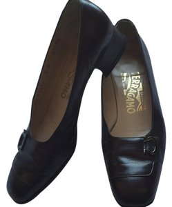 Salvatore Ferragamo Very dark brown (not red brown) Flats