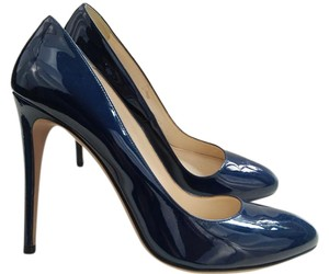 Prada Patent Leather New Stiletto 10 Blue Pumps