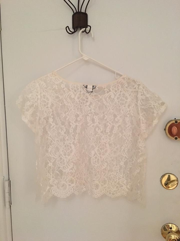 Moda international white lace sheer top 39 off retail for Moda vintage