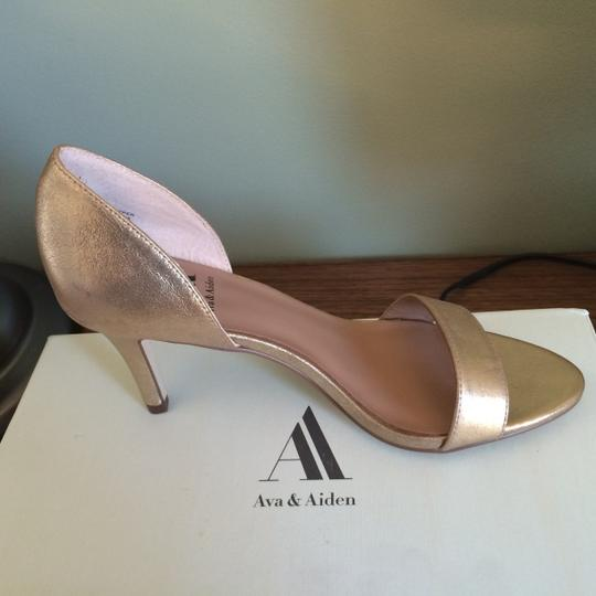 Ava & Aiden Party Date Night Gold Pumps Image 1