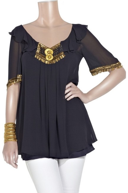 Temperley London Top Navy/Blue Image 1
