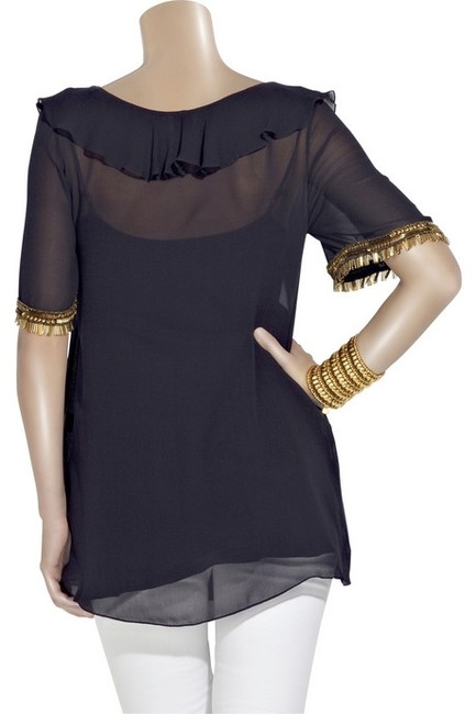 Temperley London Top Navy/Blue Image 2