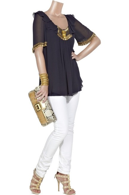 Temperley London Top Navy/Blue Image 3