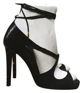 Tom Ford Black w/Tortoise Heel Sandals