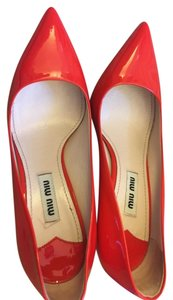 Miu Miu Leather Pump Red Pumps