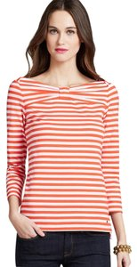 Kate Spade Stretchy Comfortable Boatneck Top Pink, Marachino Cherries