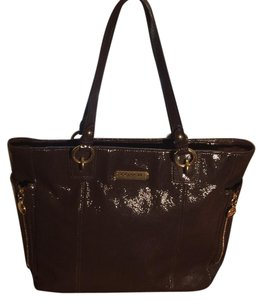 Coach Satchel in Brown & Gold