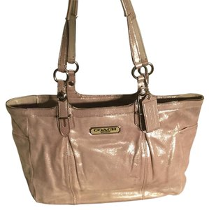 Coach Satchel in Pewter/Silver Metallic