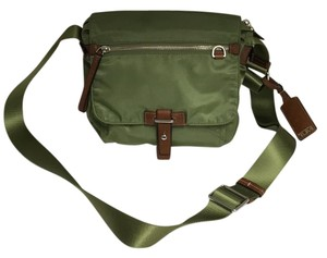 Tumi Green Messenger Bag