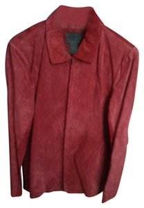 John Paul Richard Suede Red Leather Jacket