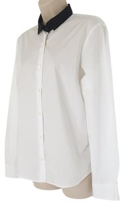Dries van Noten Career Wear Long Sleeve Shirt Top White