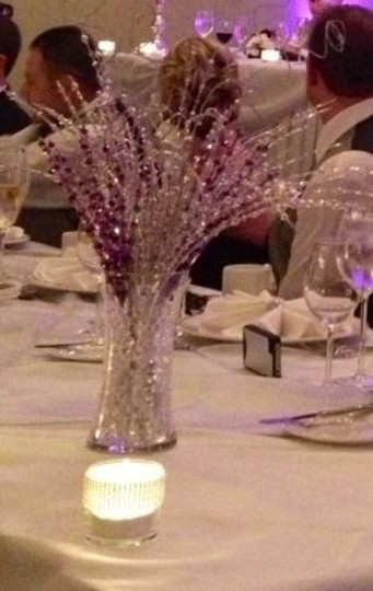 Silver 48 Beaded Stems Centerpiece