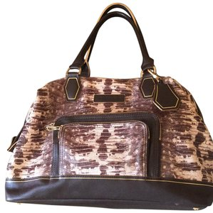 Longchamp Satchel in Brown/beige