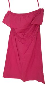 Juicy Couture short dress Pink Strapless Ruffle Preppy on Tradesy