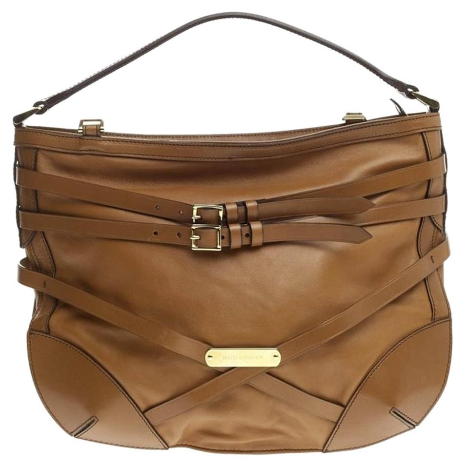 acf4d467736e Burberry Bridle Dutton Small Leather Hobo Bag - Tradesy