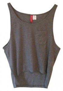 H&M High-low Lounge Top 2-PACK Grey/White