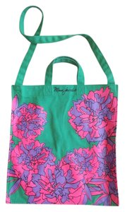 Marc by Marc Jacobs Floral Bright Canvas Tote in Green