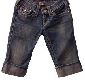 True Religion Cuffed Shorts Light denim