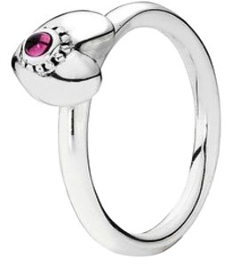 PANDORA Pandora Treasured Heart Ring Retired Size 6