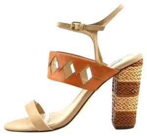 Charles David Nude and Cognac Sandals