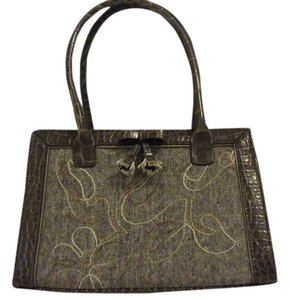 Liz Claiborne Vintage Tote in brown/gold