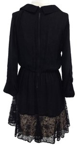 Alice + Olivia Black Long Sleeve Shirt Dress