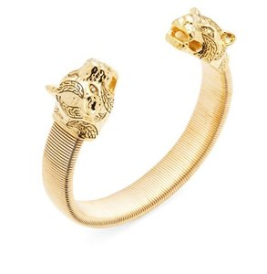 Kenneth Jay Lane Kenneth Jay Lane Gold-Plated Cougar Cuff