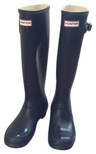 Hunter Navy Boots