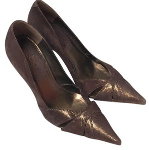 ALDO Brown with gold shimmer Pumps
