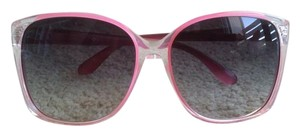 4a3e7838eb5c Marc by Marc Jacobs Clear/Pink Frame with Rim Sunglasses - Tradesy