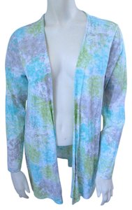 J. Jill Pima Cotton Batik Cardigan Blue Jacket