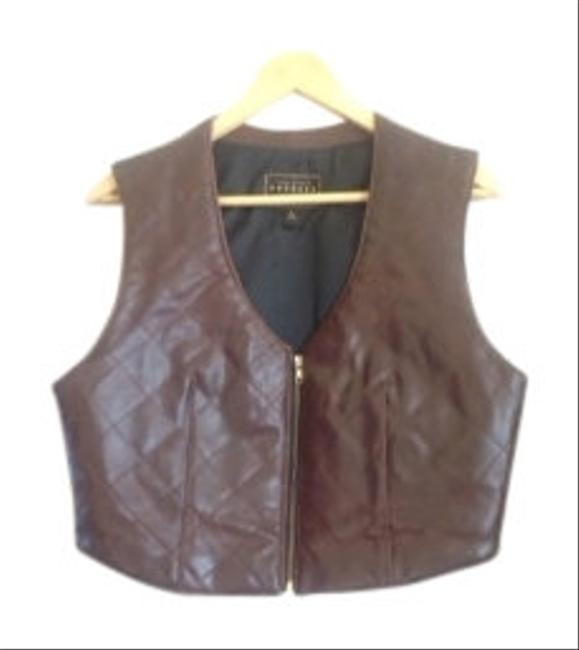 Preload https://item3.tradesy.com/images/express-leather-dress-brown-vest-17972-0-0.jpg?width=400&height=650