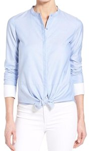 OLIVIA PALERMO + CHELSEA 28 Oxford Shirt Top OLIVIA PALERMO Light Blue