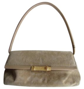 Le Roy Suede Bamboo Leather Casual Shoulder Bag