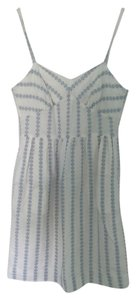 J.Crew short dress Summery White Blue Pattern on Tradesy