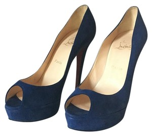 Christian Louboutin Dark blue Platforms