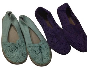 Call It Spring Teal and purple Flats