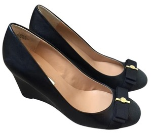 Audrey Brooke Black with Gold accent Wedges