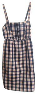 Anthropologie short dress Blue plaid on Tradesy
