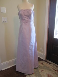 Bill Levkoff Lavender Thin Strapped A-line Modestly Beaded Bridesmaid Dress Dress